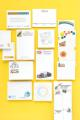 "Adhesive Note Pads - Pads of 50 Sheets - 2-3/4"" x 6"""