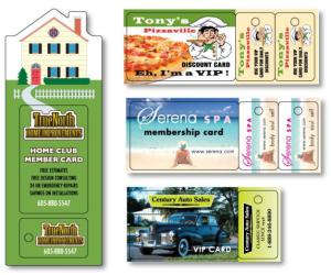 .030 Compressed Lamination Wallet Card/Key Tag Combos WALLET CARD With DOUBLE KEY TAG - Printed 1 Side
