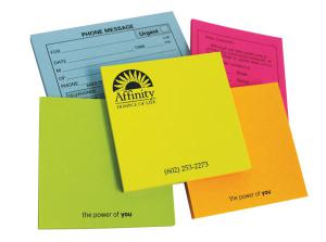 "100 Sheet Adhesive Colour Burst Note Pads - 4""x3"""