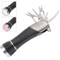 """4 LED Flashlight Multi-Tool w/ Safety Hammer"""