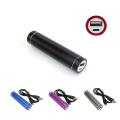 2200mAh Aluminium Mobile Power Source/Portable Power - Black