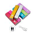 2200mAh Aluminium Mobile Power Source - Pink