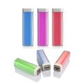2600mAh Lipstick Power Bank/Portable Charger - Silver