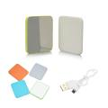 2000 mAh Ultrathin Portable Charger/Mirror - Grey