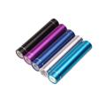 2600mAh Metal Mobile Power Source/Portable Power with LED light - Light Blue