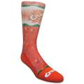 Custom Athletic Crew Sock with Full Color Sublimation, Knit-In Design, & Colored Foot Bottom